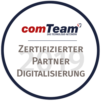 comTeam Digitalisierung Partnersiegel 2019