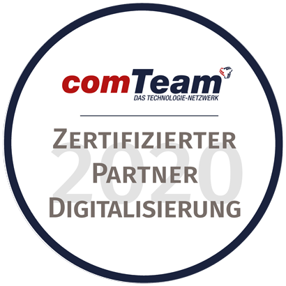 comTeam Digitalisierung Partnersiegel 2020